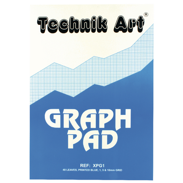Technik Art A4 Graph Pad 1/5/10mm 40 Leaf XPG1