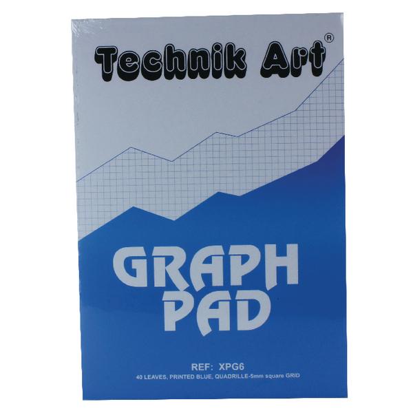 Image for Technik Art A4 Graph Pad 5mm Quadrille 40 Leaf XPG6