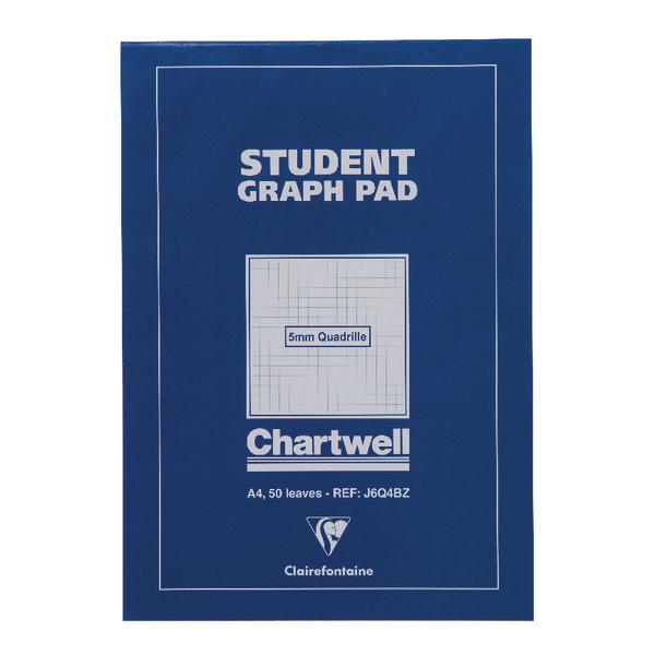 Image for Chartwell Blue Student Graph Pad 5mm Quadrille J6Q4B