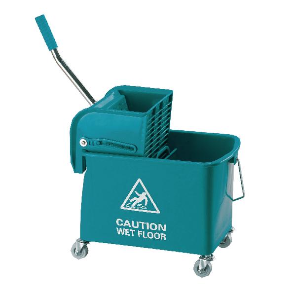 Mobile 15 Litre Green Mop Bucket KS15GB