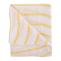 Yellow and White Hygiene Dishcloths 16x12 Inches (Pack of 10) HDYE1610P