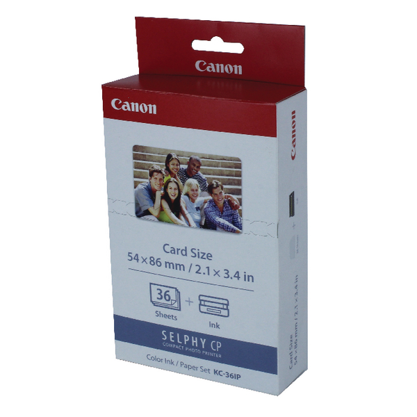 Canon KC-36IP Colour Inkjet Cartridge and Papers Set 7739A001