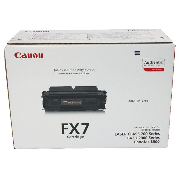 Image for Canon P4500/L2000IP Fax Toner Cartridge Black FX7