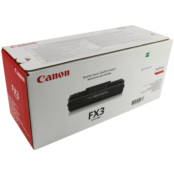 Image for Canon L360/L60/L90 Fax Toner Cartridge Black FX3