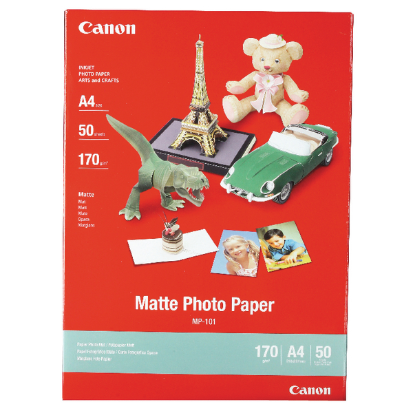 Canon A4 Matte Photo Paper 170gsm (50 Pack) MP-101 A4