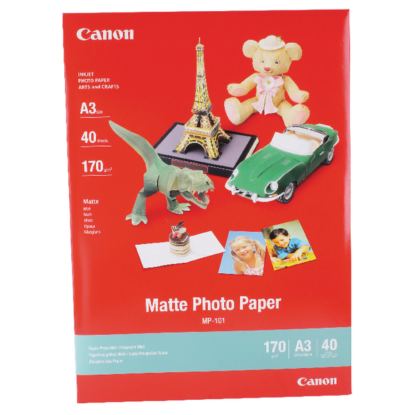 Canon A3 MP-101A3 Matte Photo Paper (40 Pack) 7981A008