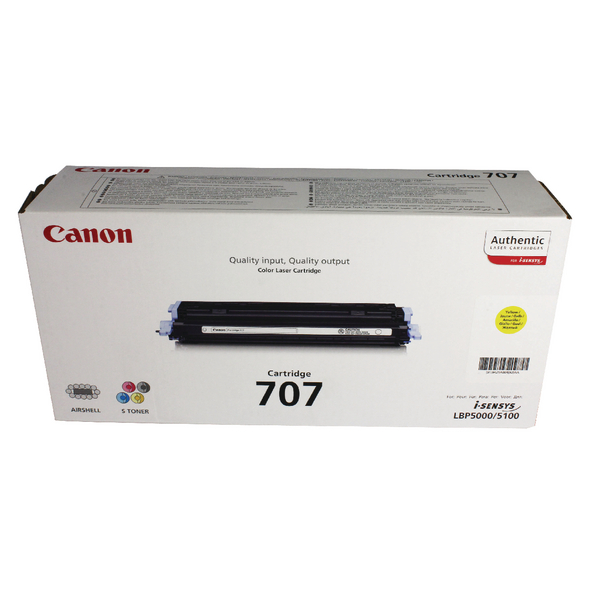 Canon 707 Y Yellow Toner Cartridge 9421A004