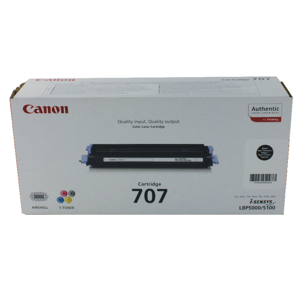 Canon 707 BK Black Toner Cartridge 9424A004