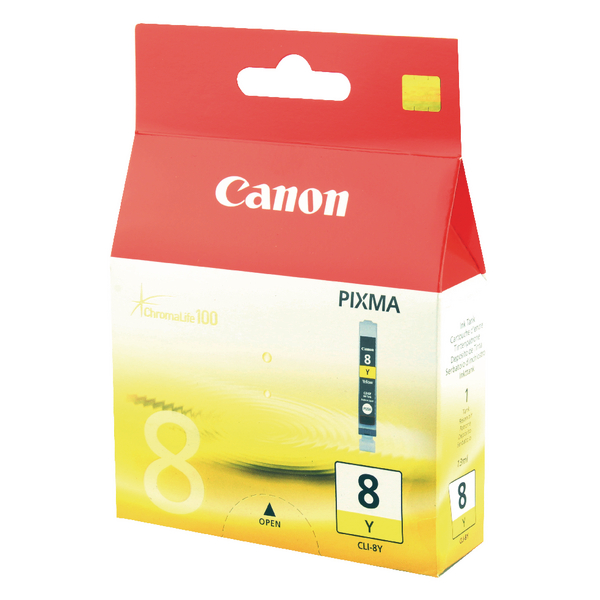 Canon CLI-8Y Yellow Inkjet Cartridge 0623B001