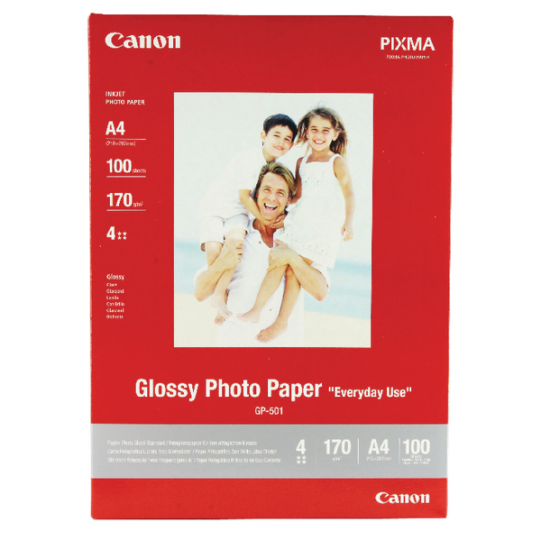 Canon A4 Glossy Photo Paper 210gsm (100 Pack) 0775B001
