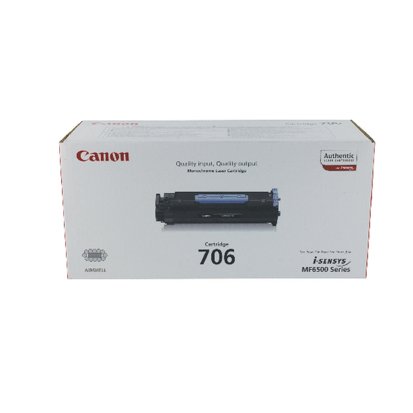 Canon 706 Black Toner Cartridge 0264B002