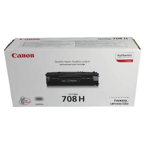 Canon 708H Black Toner Cartridge High Capacity 0917B002