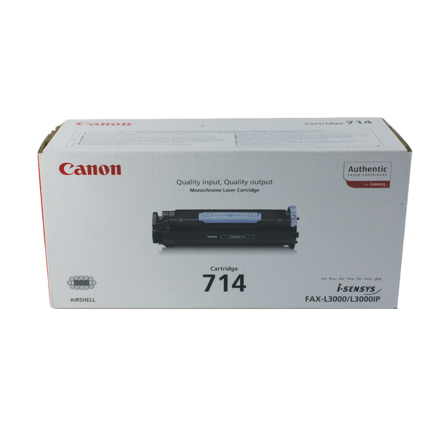 Canon 714 Black Toner Cartridge 1153B002