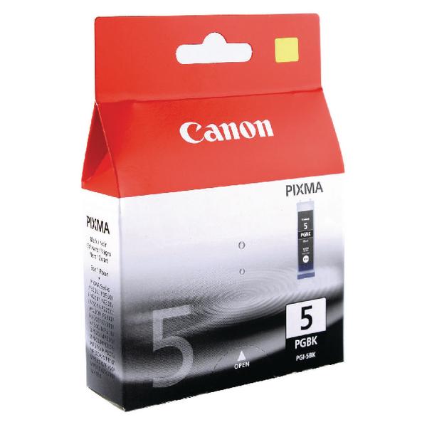 Canon PGI-5BK Black Inkjet Cartridges (Pack of 2) 0628B030