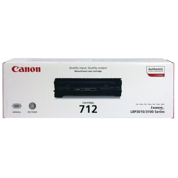 Canon 712 Black Toner Cartridge 1870B002