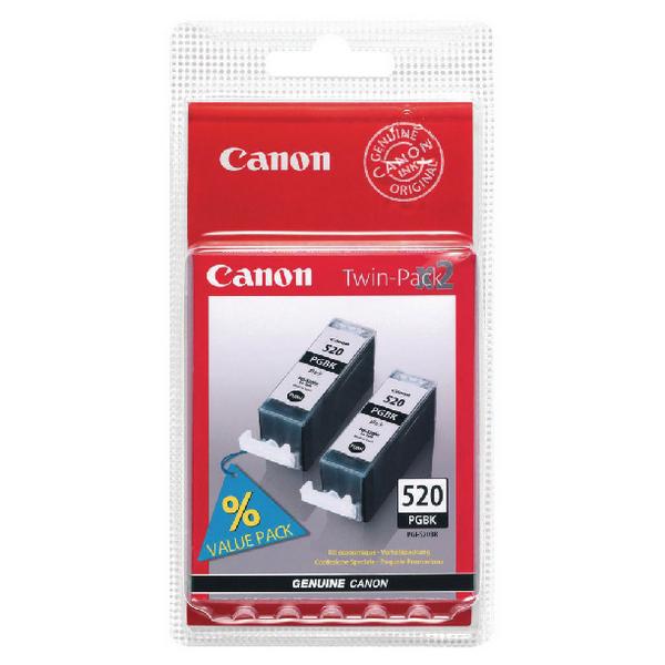 Canon PGI-520 Black Inkjet Cartridges (2 Pack) 2641B002