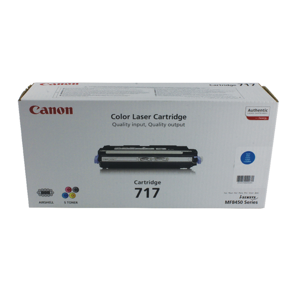 Canon 717C Cyan High Yield Toner Cartridge 2577B002