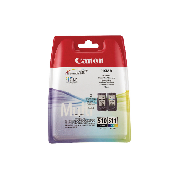 Canon PG-510/CL-511 Black/Colour Inkjet Cartridges (2 Pack) 2970B010