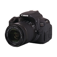 Image for Canon Black EOS 700D Digital SLR Camera With 18-55mm Lens 8596B027
