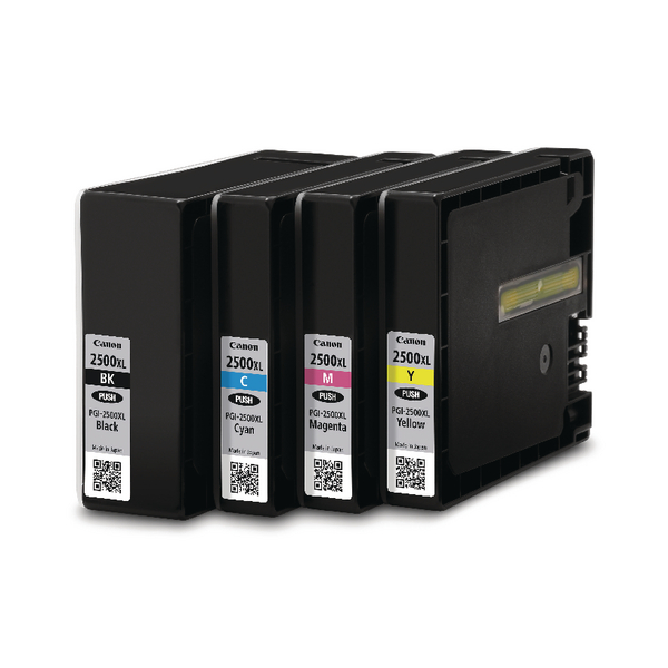 Canon PGI-2500XL Cyan/Magenta/Yellow/Black Inkjet Cartridges High Yield (4 Pack) 9254B004