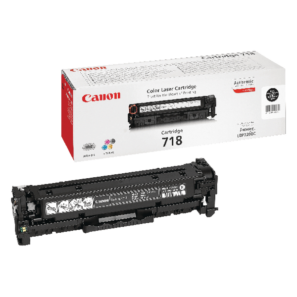 Canon 718BK Black Toner Cartridge 2662B002