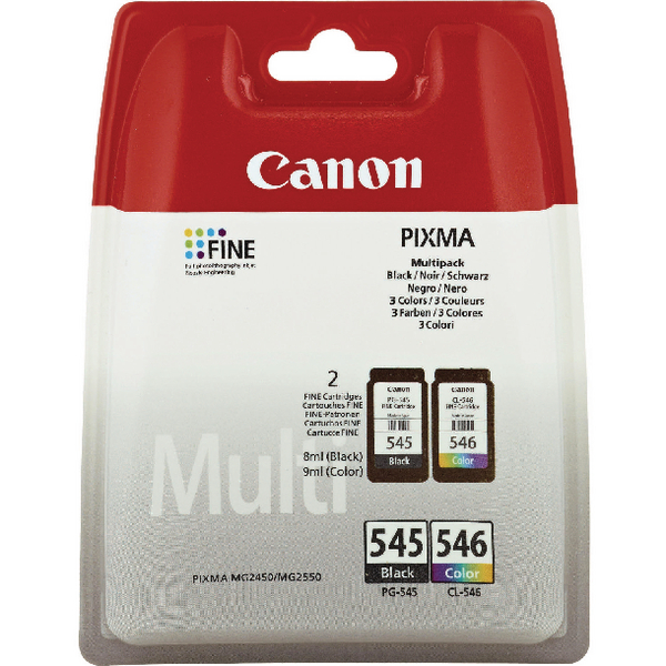 Image for Canon PG-545XL/CL-546XL Inkjet Cartridges (2 Pack) 8286B006