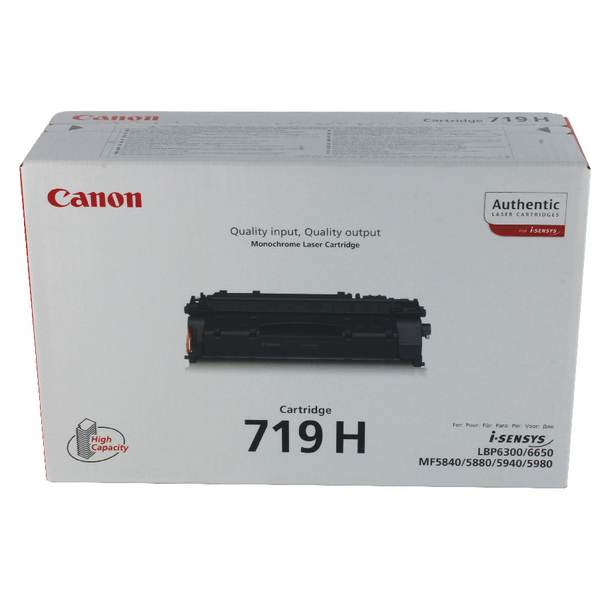 Canon 719H Black High Yield Toner Cartridge 3480B002