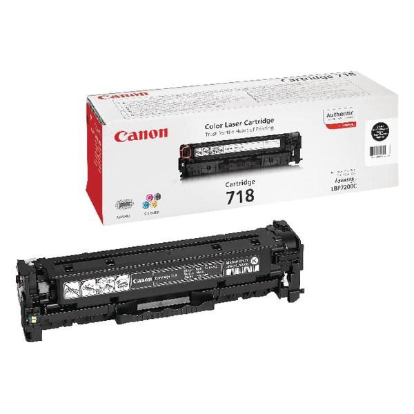 Canon 718VP Black Toner Cartridges Twin Value Pack 2662B005