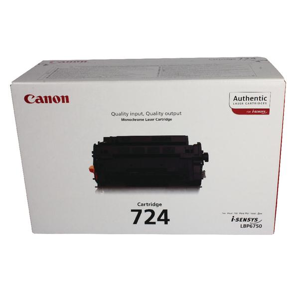 Canon 724 Black Toner Cartridge 3481B002