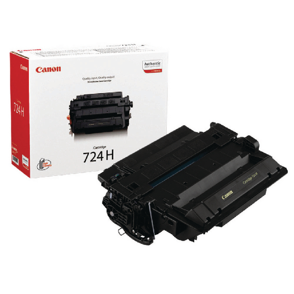 Canon 724H Black Toner Cartridge High Capacity 3482B002