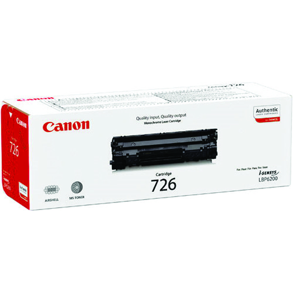 Canon 726 Black Toner Cartridge 3483B002