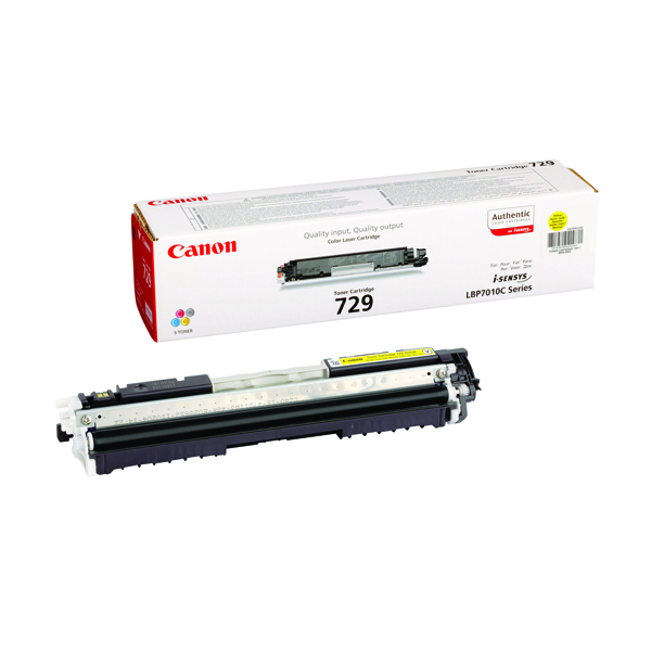 Canon LBP7010C Yellow Laser Toner Cartridge 729Y 4367B002