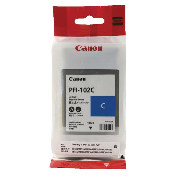 Canon PFI-102C Cyan Inkjet Cartridge 0896B001