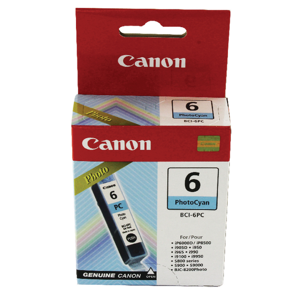 Canon BCI-6PC Cyan Inkjet Cartridge 4709A002