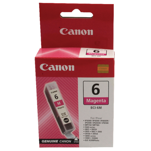 Canon BCI-6M Magenta Inkjet Cartridge 4707A002