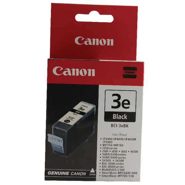 Canon BCI-3eBK Black Inkjet Cartridge 4479A002