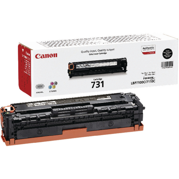 Canon 731H Black Toner Cartridge High Capacity 6273B002