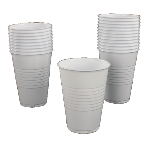 White Vending Drinking Cup Tall 20cl (Pack of 100) GIPSTCW2000V100