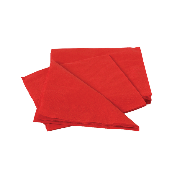 Maxima Napkins 330x330mm 2-Ply Red (100 Pack) VSMAX33/2R