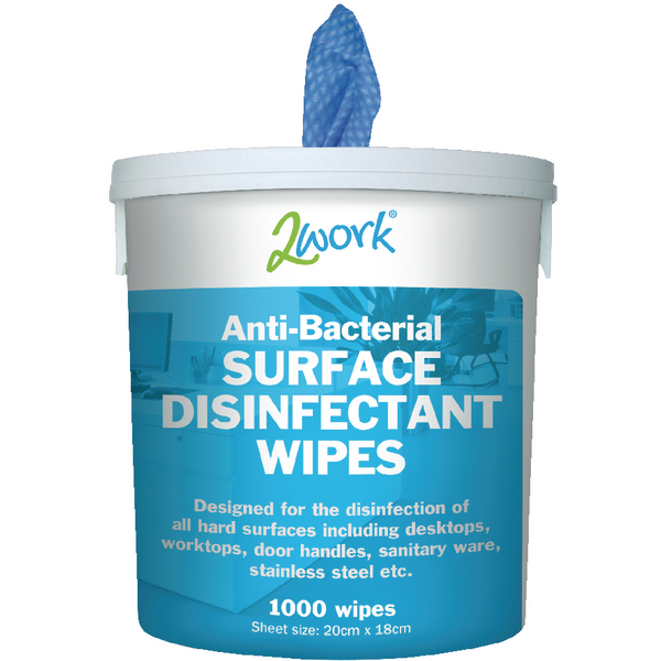 2Work Disinfectant Wipe Bucket of 1000 (Pack of 1) EBSD1000