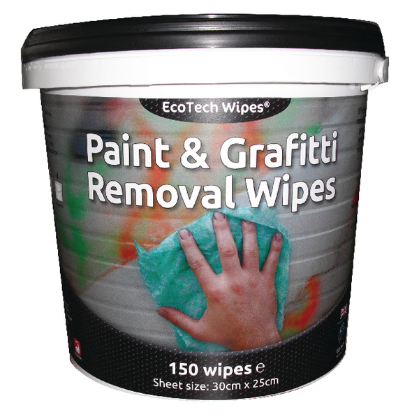 EcoTech Paint & Graffiti Wipes Tub 150