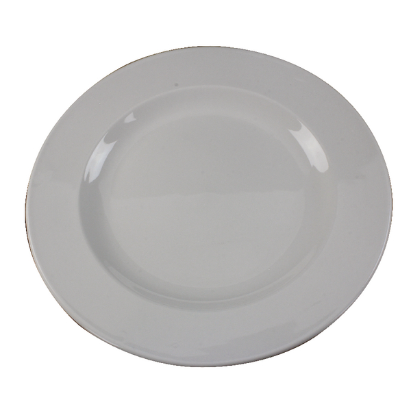 White 250mm Porcelain Plate (6 Pack) 304111