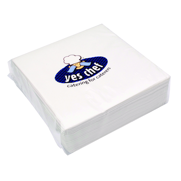 White 2-Ply Paper Napkins 400x400mm (Pack of 100) 0502122