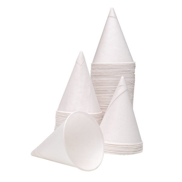 4oz Water Drinking Cone Cup White (Pack of 5000) GEPACOW5000