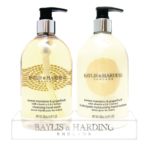 Baylis & Harding Mandarin and GrapeFruit Wash and Lotion Tray