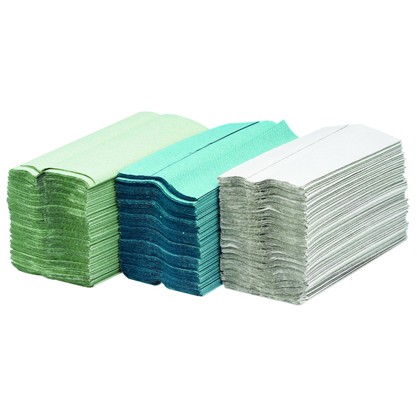 Maxima Green 2-Ply White C-Fold Hand Towels (24 x 100 sheets Pack)