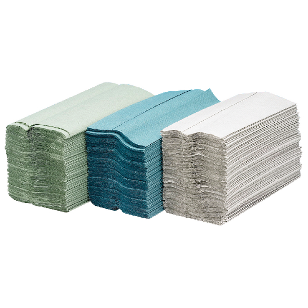 Maxima Green C-Fold Hand Towel 1-Ply Green Pk144x20 KMAX5053