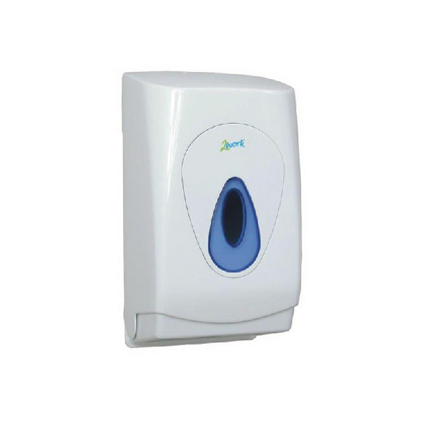 2Work White Bulk Pack Toilet Tissue Dispenser MON119