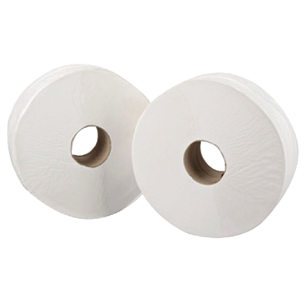 Maxima Mini Jumbo Toilet Roll 200 Metre White (Pack of 12)