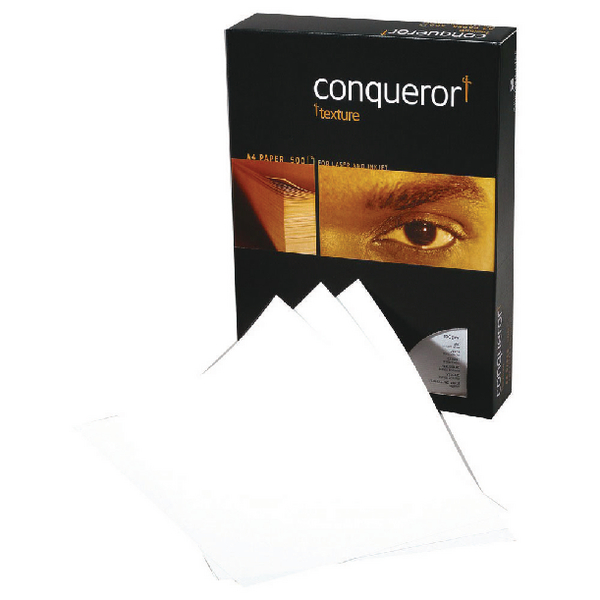 Conqueror Laid A4 Paper 100gsm Brilliant White (500 Pack) CQP0324032BWNW